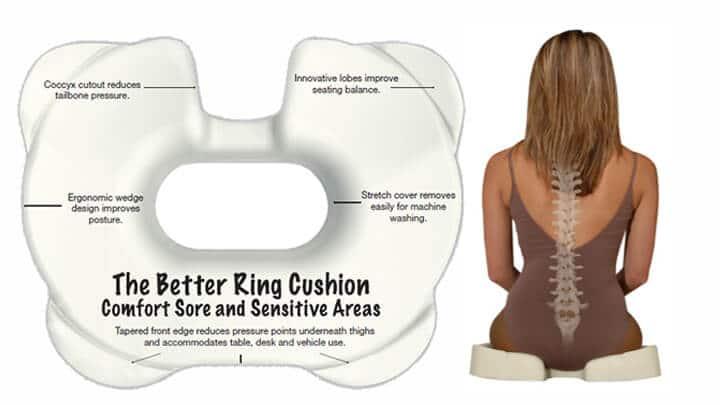 Doughnut Pillow for Tailbone Injury